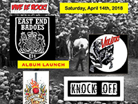 East End Badoes, The Violators, Geoffrey OiCott, Knock Off