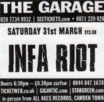Infa Riot - Relentless Garage, Highbury, London 31.3.12