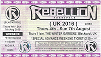 Rebellion 2016 - Tickets Available Now!