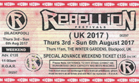 Rebellion 2017 - Tickets Available Now!