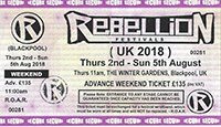 Rebellion 2019 - Tickets Available Now!