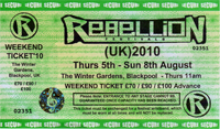 Rebellion 2010, Winter Gardens, Blackpool
