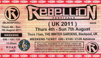 Rebellion 2011, Winter Gardens, Blackpool