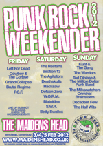 Punk Rock Weekender: The Maidens Head, Canterbury, 4.2.12